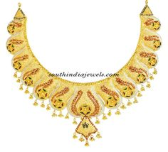Latest 22K Gold necklace from Kerala jewellers ~ South India Jewels