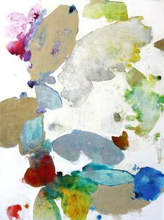 Meredith Pardue, Leaves VI, ink, oil, oil crayon on canvas, 48x36.