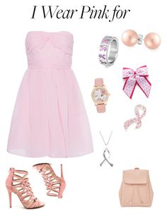 """I wear Pink for....."" by mayraflores534 on Polyvore featuring Carven, Napier, Bling Jewelry, BERRICLE, New Look and IWearPinkFor"