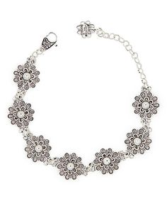 Look at this #zulilyfind! Sterling Silver Filigree Bracelet #zulilyfinds