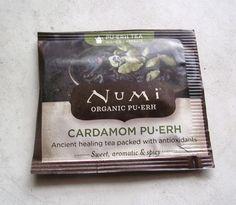 My Thoughts Are Like Butterflies, Tea Reviews and Geekery. : Numi Organic Tea: Cardamon Pu-Erh, A Tea Review