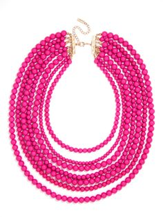 Bold Beaded Strands Necklace | BaubleBar | $40