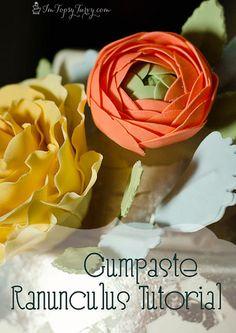 an easy gumpaste ranunculus tutorial by imtopsyturvy.com, via Flickr