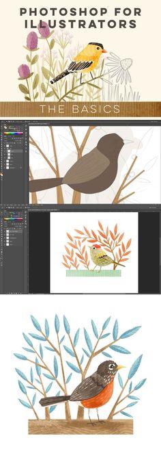 CLASS: Photoshop for Illustrators: The Basics with /stephanie_fizer/ #photoshop #class #illustration /atlypins/