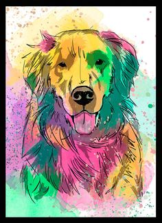 Golden Retriever - Dog in Art                                                                                                                                                      Mais