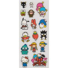 Sanrio 50th Small Gift Stickers - Monkichi | My Monkichi Life ❤ liked on Polyvore featuring filler, items, misc and stuff