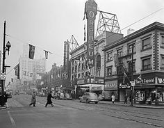 """Forbidden Vancouver's new walking tour The Granville Street Reveal treats guests to a view of the downtown Vancouver of yesteryear. November Events, Granville Street, Home History, Downtown Vancouver, Canadian History, Iconic Photos, View Map, Walking Tour, Back In The Day"