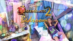 by request: With Disney Descendants 2 coming out TODAY we've got the PERFECT craft! Check out this Fabulous Isle of the Lost Dollhouse Bedroom! My Froggy Stuff Videos, Disney Descendants 2, Myfroggystuff, Barbie Bedroom, Isle Of The Lost, Disney Bedrooms, Doll Videos, Barbie Furniture, Kid Furniture