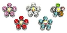 """Which one is your favorite? 3-8"""" Slider Flowe...  Check it out here : http://www.allforourpets.com/products/3-8-slider-flower-charm-multi-color-3-8"""