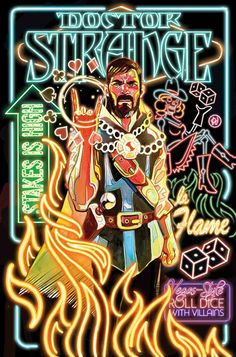 Doctor Strange by Mike Del Mundo
