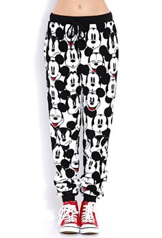 Mickey mouse joggers~ OMG I HAVE A CREWNECK THAT WOULD MATCH THIS ITS THE EXACT SAME THING