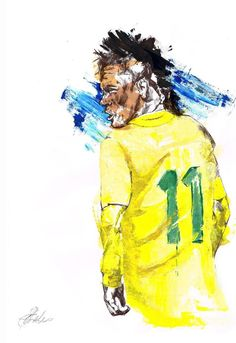 Neymar by Sahara Charles Neymar, Messi, Fc Barcelona, Soccer, Sketch, Sporty, Football, Graphics, Random