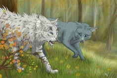 """""""Bluestar's Prophecy"""", chapter II Goosefeather, Bluekit and Moonflower) """"He rolled onto his back and began rubbing his shoulders against the warm, rough earth. """"It's good to see newleaf..."""