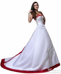 Faironly High Quality Satin Sweetheart Royal Tail Wedding Dress Customer Make