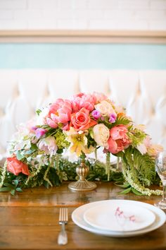 #centerpiece  Photography: Kimberly Chau - kimberlychau.com  Read More: http://www.stylemepretty.com/2014/08/08/french-brunch-inspired-bridal-shower/