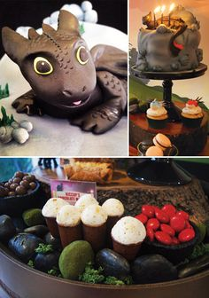 How to Train Your Dragon Birthday Party Dessert Table // Hostess with the Mostess®