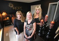 Cher, Sam and Carol - winner of the 'Rockstar Mom of the Year' contest presented by the Okanagan Daily Courier and Rock House.  #rockhouseofdesign #interiordesigners #motherdaughter #rockstarmom #giveaway