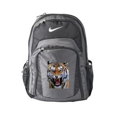 Tiger Nike Performance Backpack, Anthracite/Black ($104) ❤ liked on Polyvore