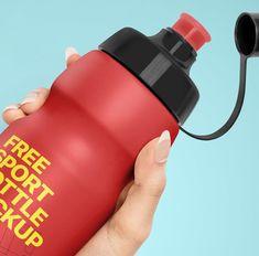 Free Sport Bottle Mockup - Free Package Mockups Beverage Packaging, Bottle Packaging, Bottle Mockup, Oil Bottle, Spray Bottle, Beer Bottle, Bike Water Bottle, Drinking Water Bottle, Artisan Beer