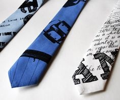 Bicycle necktie by Unni Strand.  Hand printed on recycled cotton fabric.  https://www.etsy.com/listing/99612881/hand-printed-bike-necktie-in-black-and