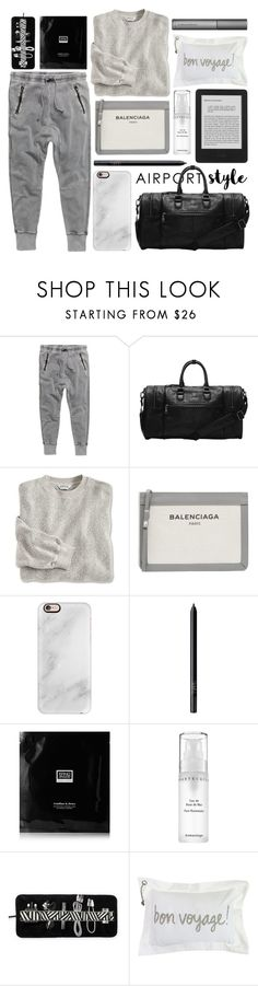 """comfort comes first"" by foundlostme ❤ liked on Polyvore featuring H&M, Balenciaga, Casetify, NARS Cosmetics, Erno Laszlo, Chantecaille, Park B. Smith, Perricone MD and airportstyle"