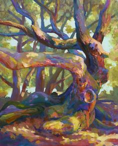 Live Oak on panel by Janice Gay Maker, private collection Landscape Art, Landscape Paintings, Landscapes, Landscape Architecture, Paintings Of Trees, Landscape Rocks, Painting Trees, Impressionist Paintings, Fauvism