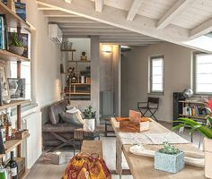 An attic apartment with eclectic charm and inspiring colors.