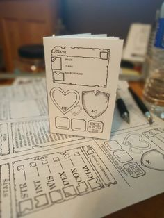 Pocketmod 5E Dungeons and Dragons Character Sheet!