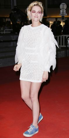 Every Time Kristen Stewart Wore Sneakers at Cannes Film Festival - At the Personal Shopper Premiere from InStyle.com