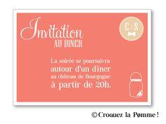 Faire part mariage invitation au repas