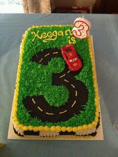 Cars cake I made for 3 yr bday