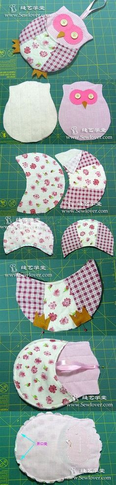 would make a great pot holder or even mug rug with a few changes! Owl Patterns, Applique Patterns, Quilt Patterns, Sewing Patterns, Sewing Hacks, Sewing Tutorials, Quilting Projects, Sewing Projects, Fabric Crafts