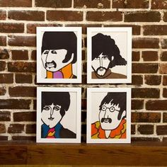 Beatles Prints Set Of 4, $176, now featured on Fab.