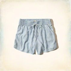Pattern Chambray Short