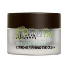 Ahava Extreme Firming Eye Cream | Time To Revitalize, 15ml: Reduces wrinkles and significantly firms the delicate skin around the eyes. Powered by AHAVAs Extreme Complex and new innovative extract from micro red algae sourced from the ocean tidal zone that envelops the skin with a smoothing active shield improving skin's elasticity and providing a glowing youthful and lifted appearance. The velvety rich Ahava cream is easily absorbed by the skin providing intense hydration together with…