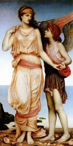 Evelyn de Morgan, Venus and Cupid, 1878