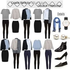 office capsule wardrobe for work trip Capsule Wardrobe Mom, Capsule Outfits, Work Wardrobe, Minimalist Wardrobe, Minimalist Fashion, Corporate Attire Women, Spring Work Outfits, Business Outfits, Office Fashion