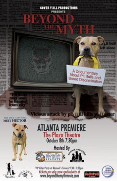 Highly recommend this documentary on the plight of pit bulls and their owners.  Topic is breed discrimination.