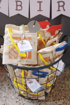 Construction Theme Birthday Party Return Gifts Places 4th