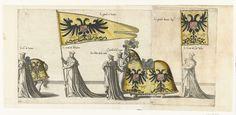 Deel van de optocht, nr. 22 en 23, Joannes van Doetechum (I), Lucas van Doetechum, Hieronymus Cock, 1559