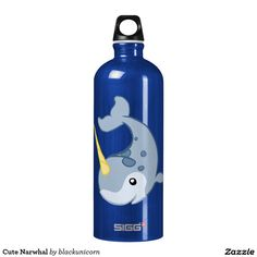 Cute Narwhal Water Bottle