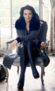 Iris Berben als Fotomodel für die Eickhoffs, die sie zu ihren Freunden in Düsseldorf zählt.