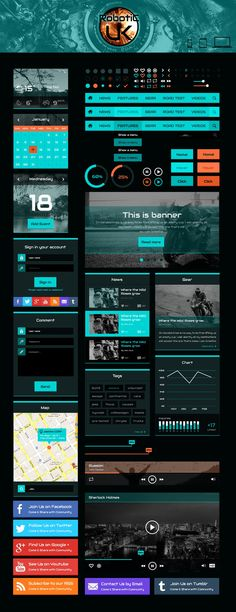 ROBOTIC UI- Free Website Templates.