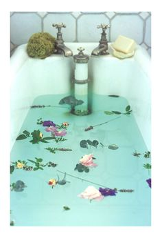 time for a floral-infused bath