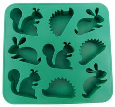 Kikkerland Woodlands Silcone Ice Cube Tray New Bunnies Hedgehogs Squirrels #KikkerlandDesign