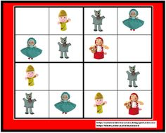 CALAIXET DE RECURSOS: RECURSOS PARA TRABAJAR EL CUENTO DE CAPERUCITA ROJA. Sudoku Puzzles, Red Riding Hood, Little Red, Math Activities, Preschool, Kids Rugs, Hoodie, Pattern, Album