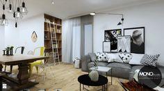 Salon styl Industrialny - zdjęcie od Monostudio Wnętrza - Salon - Styl Industrialny - Monostudio Wnętrza