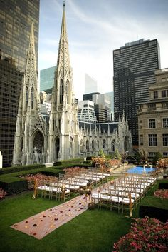 Roof Top Wedding in NYC, this is truly how I want it to happen!
