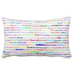 Sarah Text Design II Lumbar Pillow