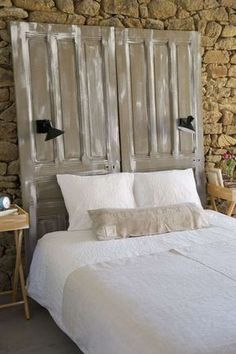 DIY Headboard Ideas that Will Make Your Bedroom Beutiful - headboard ideas wood Furniture, Interior, Home, Elegant Bedroom, Bedroom Design, Home Deco, Bed, Headboard, Old Doors
